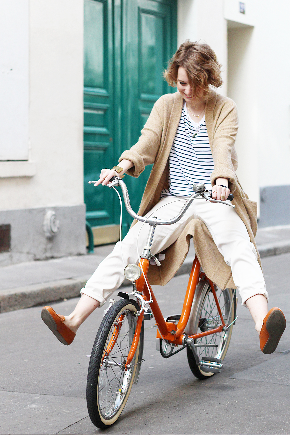 look-vélo-vintage-orange