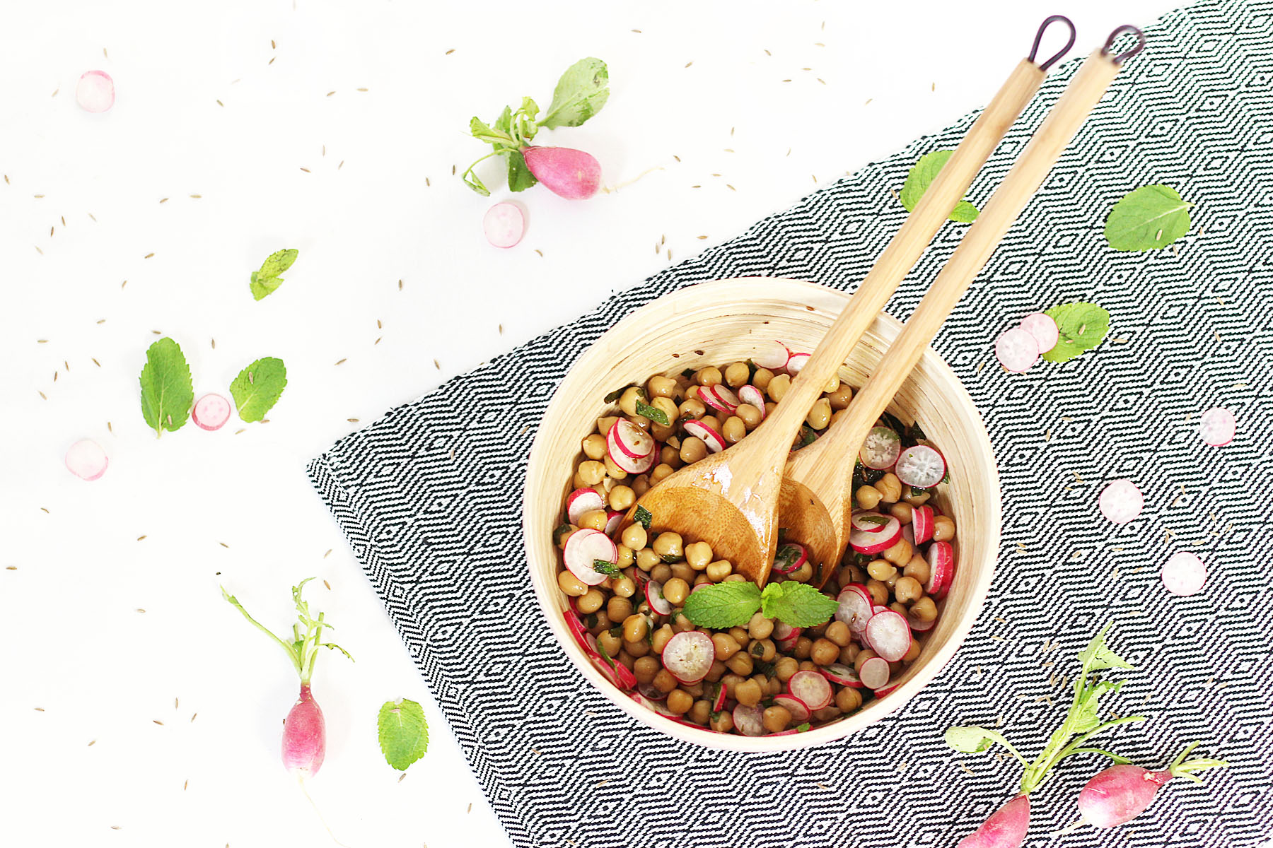 salade-pois-chiches-radis